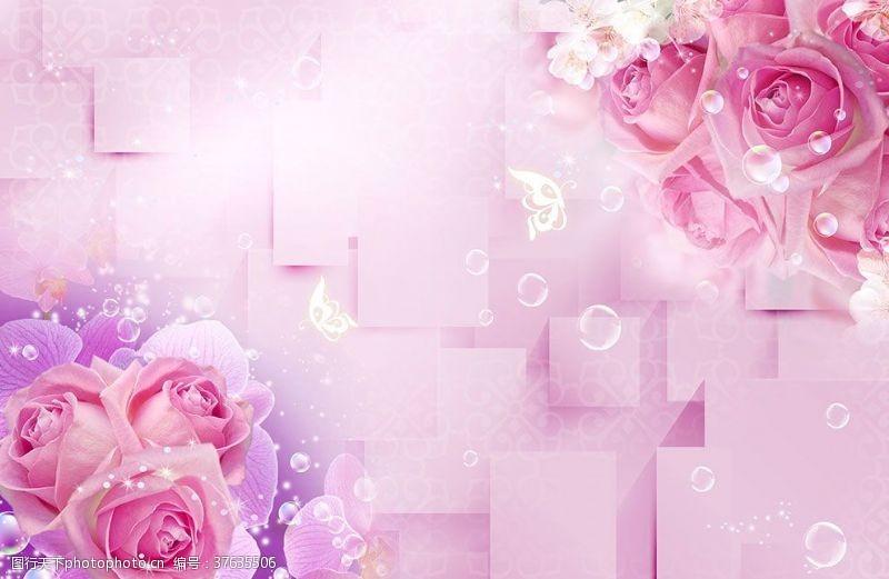 梦幻花玫瑰玫瑰背景