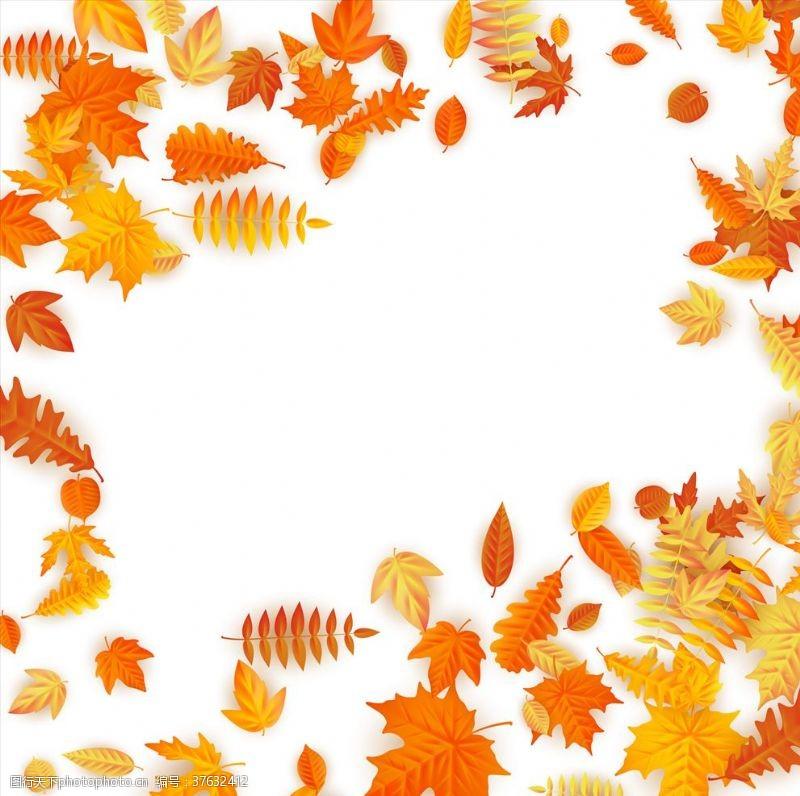 落叶背景海报