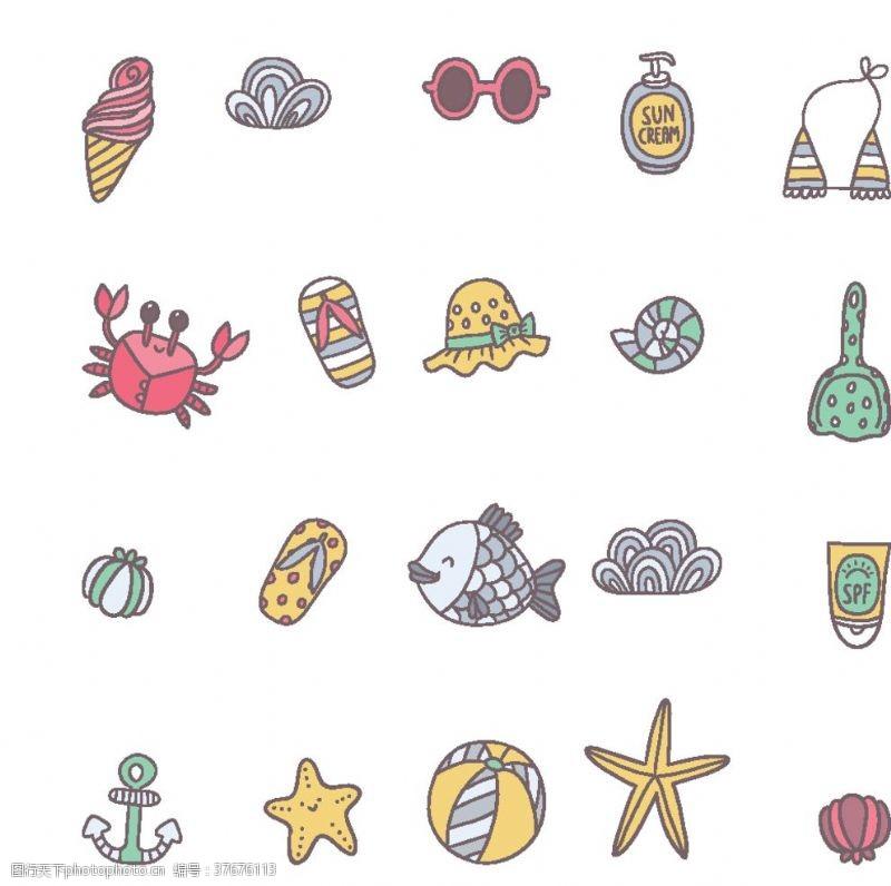 装饰名片螃蟹