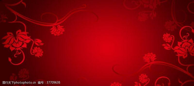 版面海报红色花纹背景