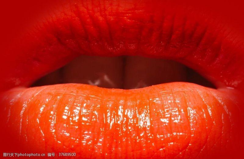 面部特写美女嘴唇