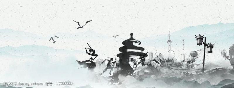 中国风背景墙电视背景墙