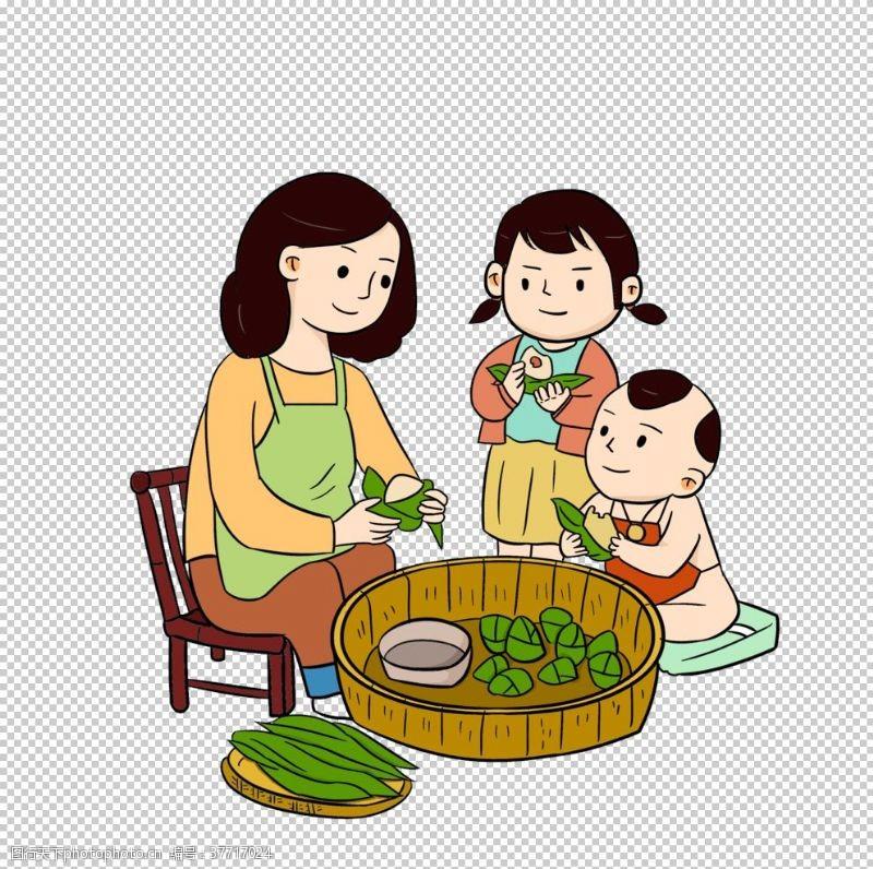 卡通粽子端午素材png