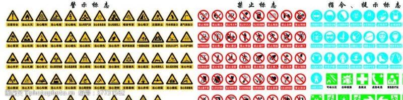 禁止标志标识大全