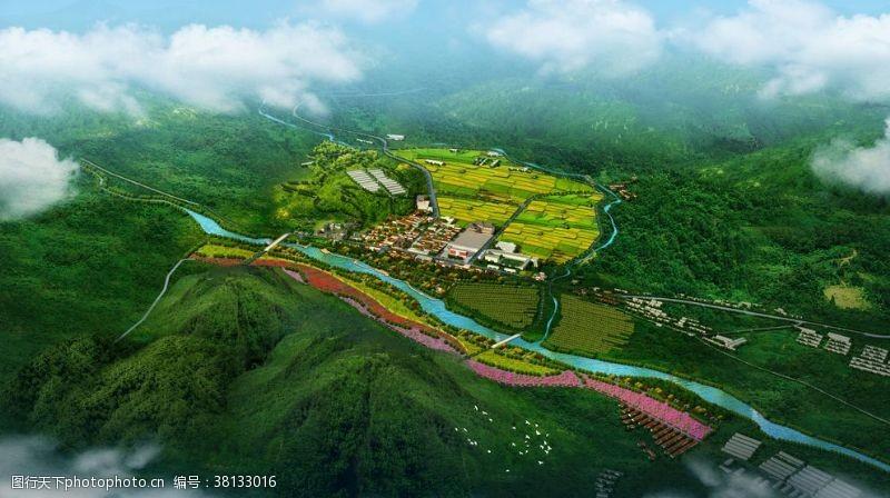 景观规划大地景观效果图