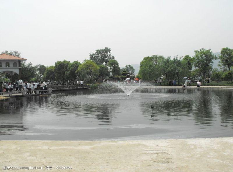 喷泉景观湖面景观