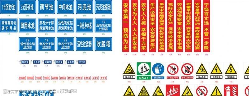 禁止标志安全生产警示牌