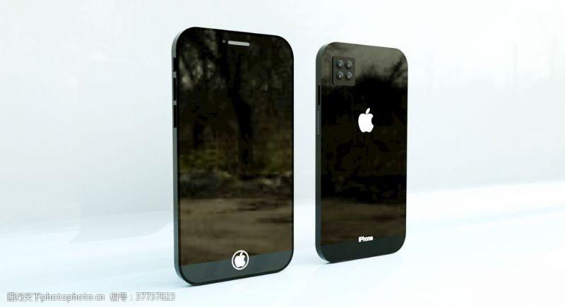 苹果iphoneC4D+OC苹果手机概念效果图