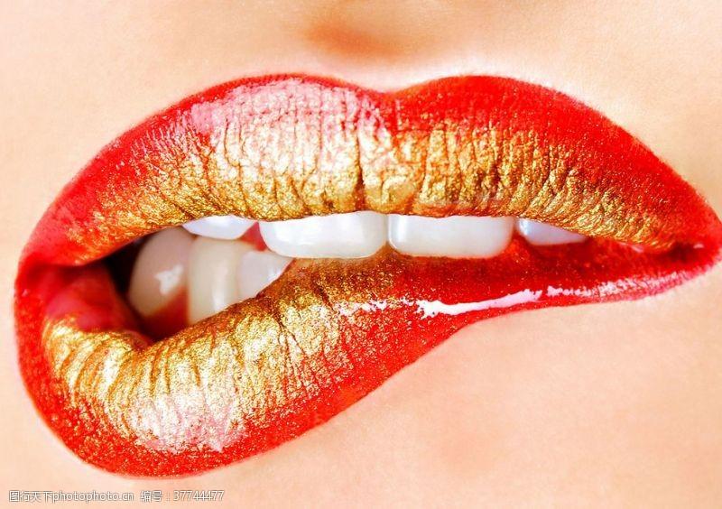 妩媚唇妆嘴唇红唇嘴巴
