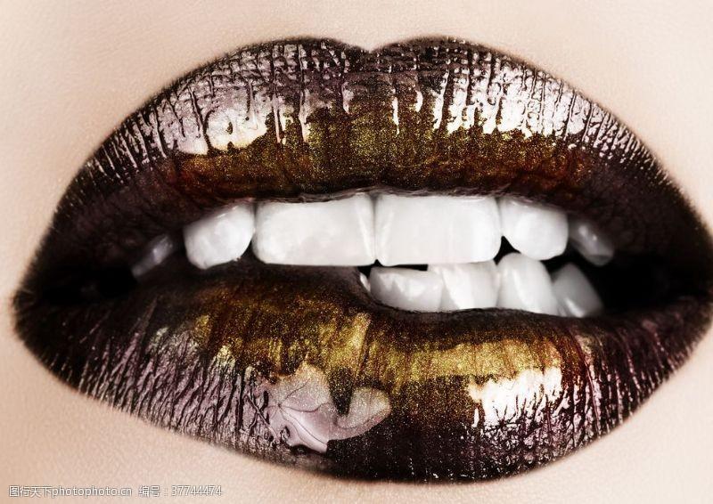 妩媚美女嘴巴嘴唇唇印性感