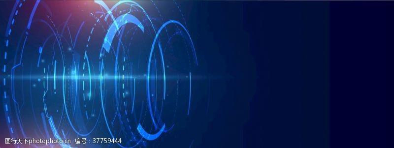 多边形设计蓝色科技背景