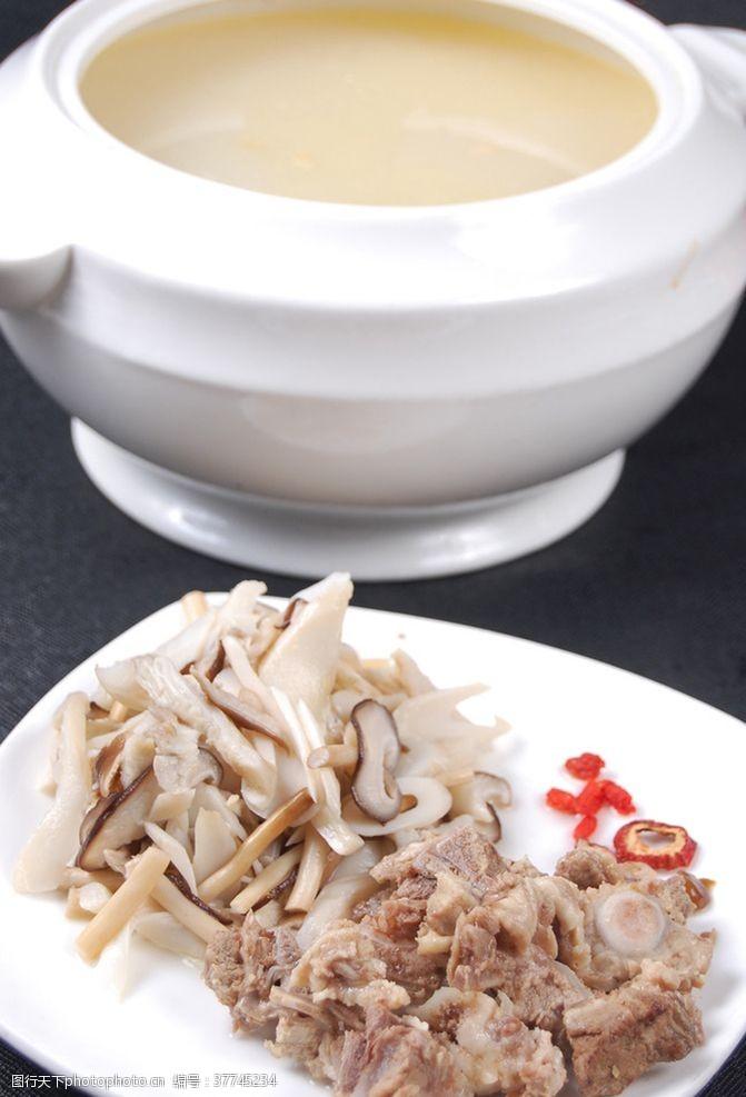 野菌菇野山菌煲老鸡汤