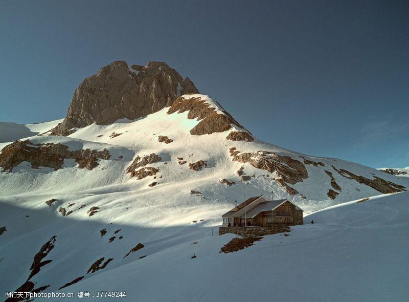 日内瓦湖阿尔卑斯山风景