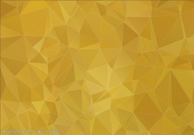 金色几何炫彩金黄背景