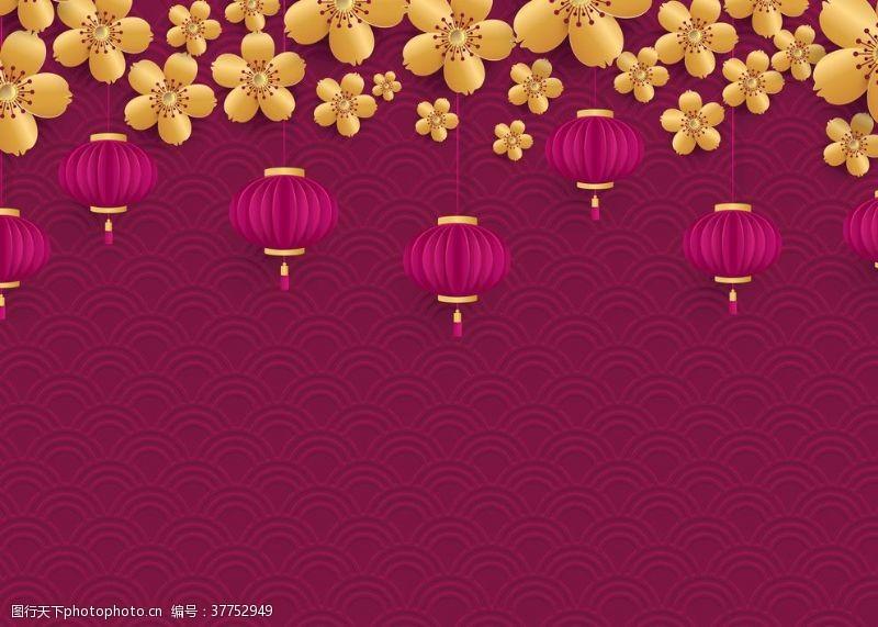 中式灯笼背景
