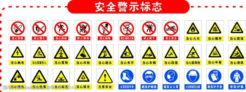 禁止标志安全警示标志