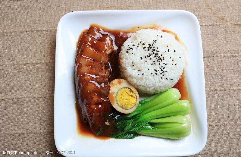猪肝面红烧肉盖饭