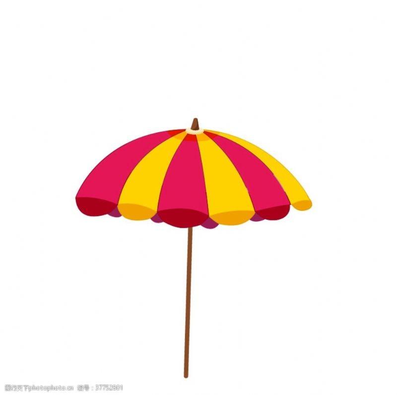 大伞卡通插画太阳伞