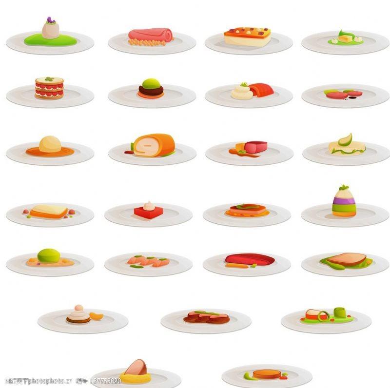 中国饮食卡通美食