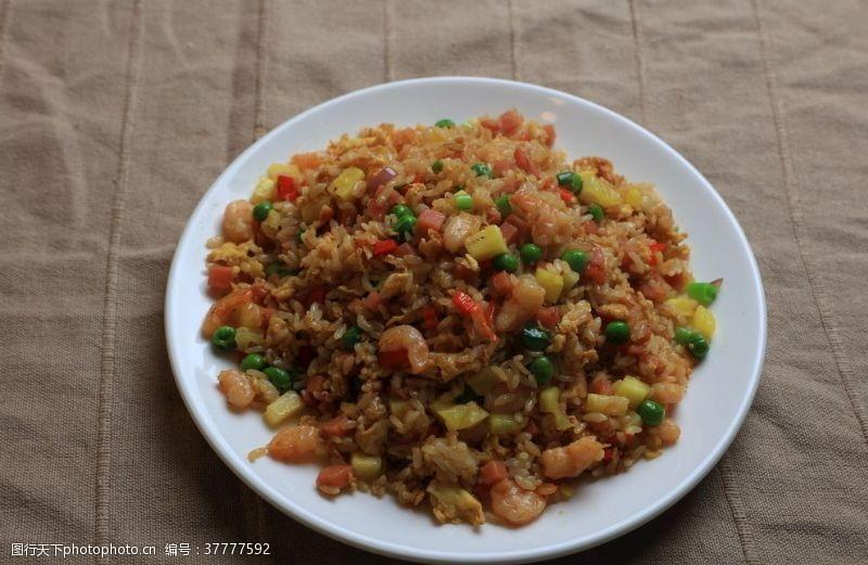 猪肝面虾仁炒饭