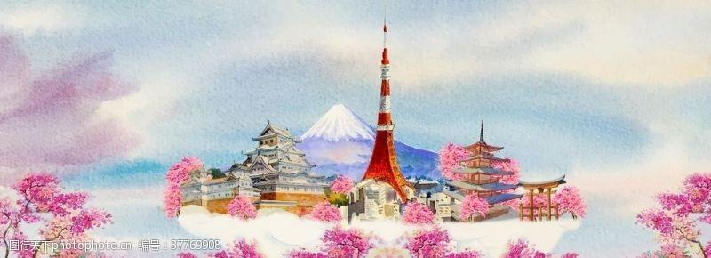 樱花旅游日本风景地标
