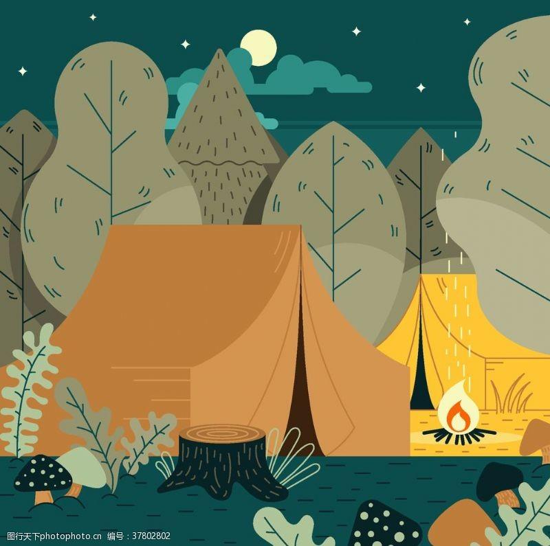 驴友探险野营