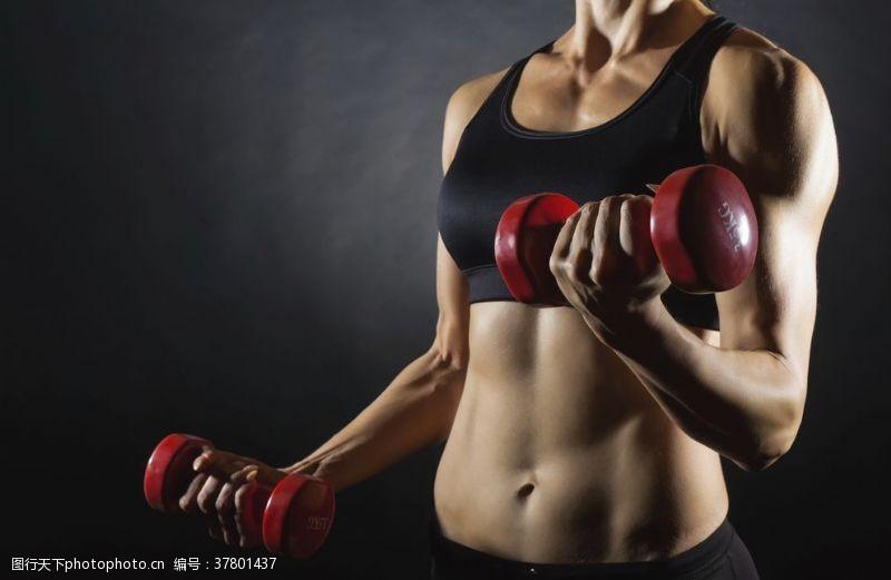健身的美女美女健身模特