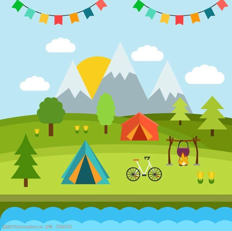同学郊游野营