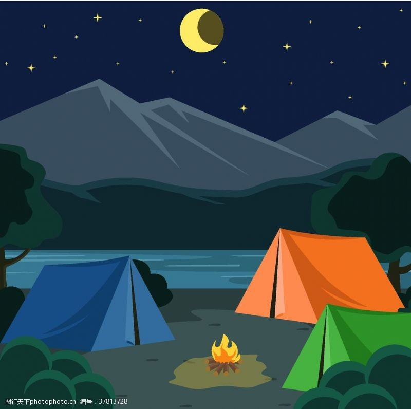 驴友探险露营