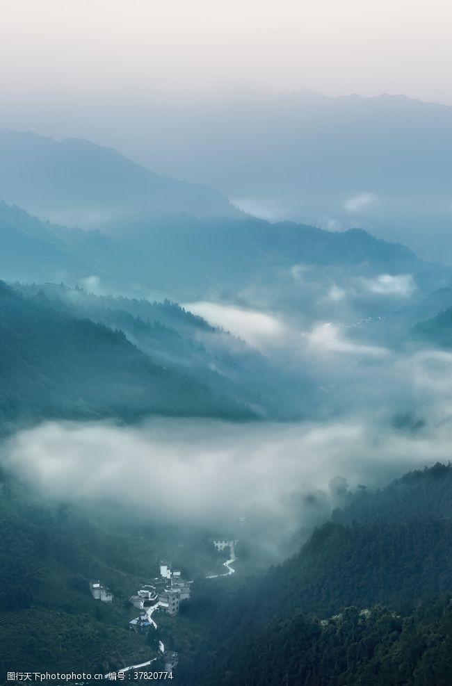 摄影图库山雾