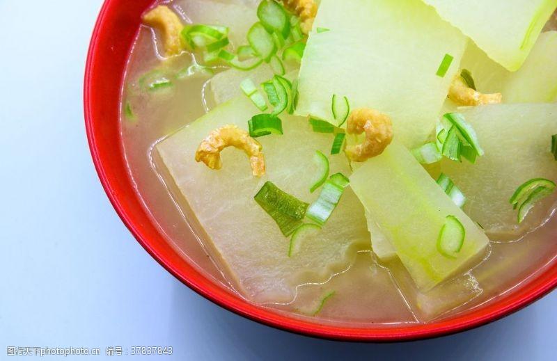 绿色食品海米炖冬瓜