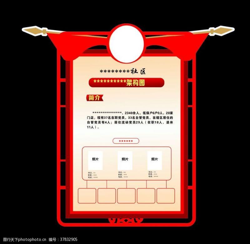 红旗造型展板