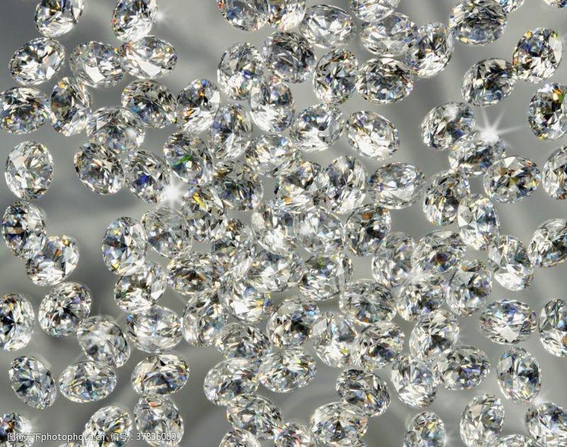 珠宝钻石发光背景