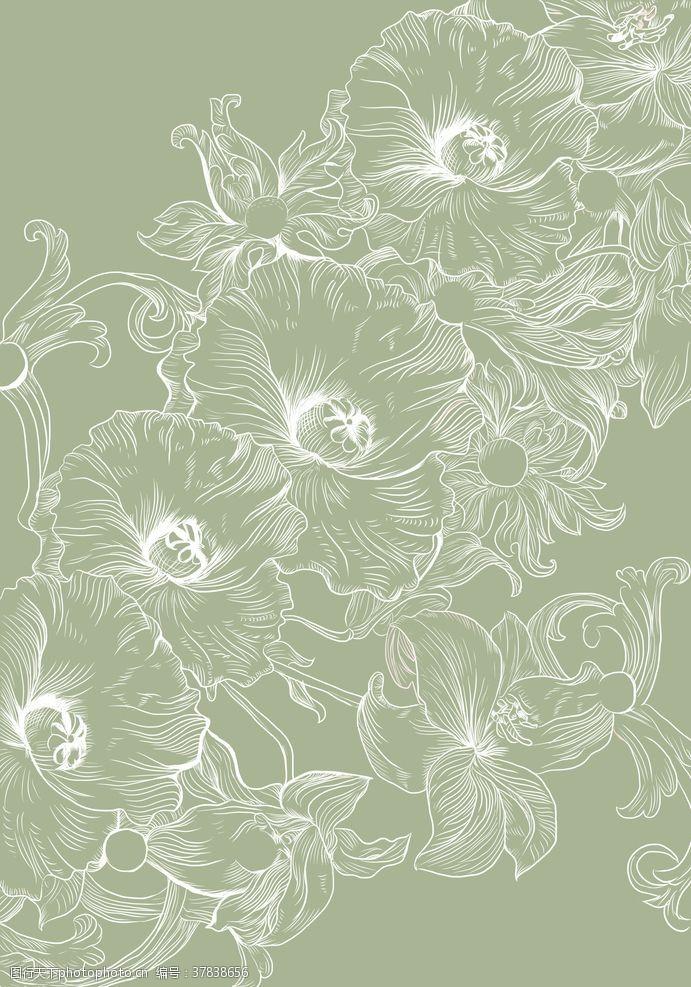 原创设计底纹花卉