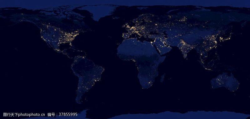 太空地球平面图