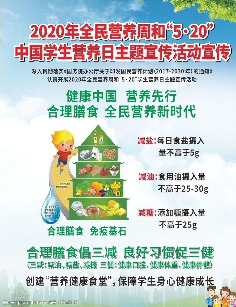营养食谱全民营养周和学生营养日