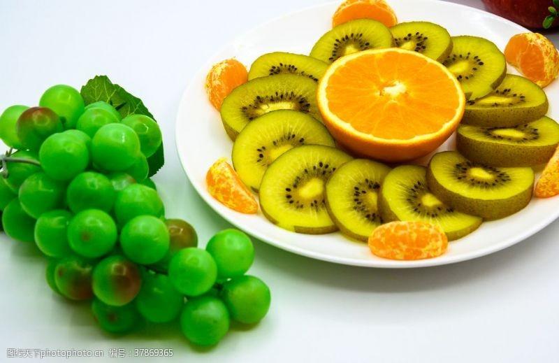 绿色食品水果拚盘