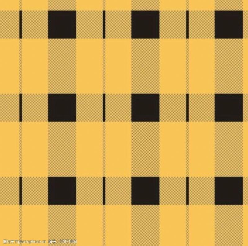 男装印花黄色条纹斜格子
