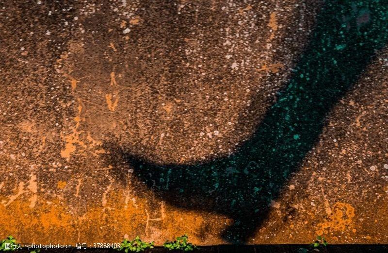 抽象墙壁影子