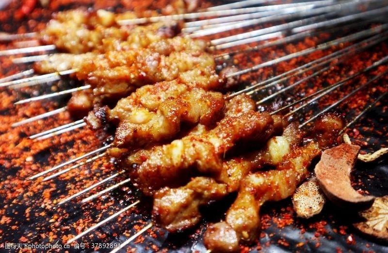 美食羊肉串烧烤烤串