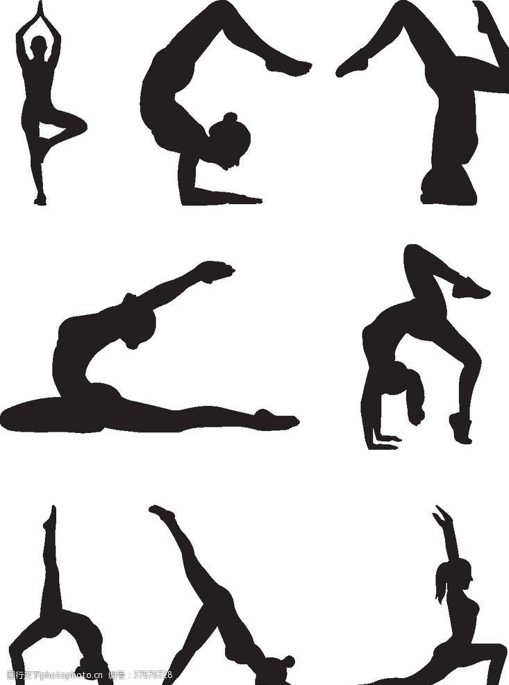 美女瑜伽剪影