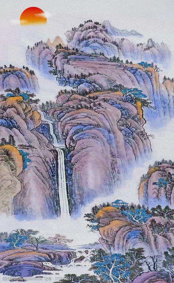鸿运当头中式装饰国画山水