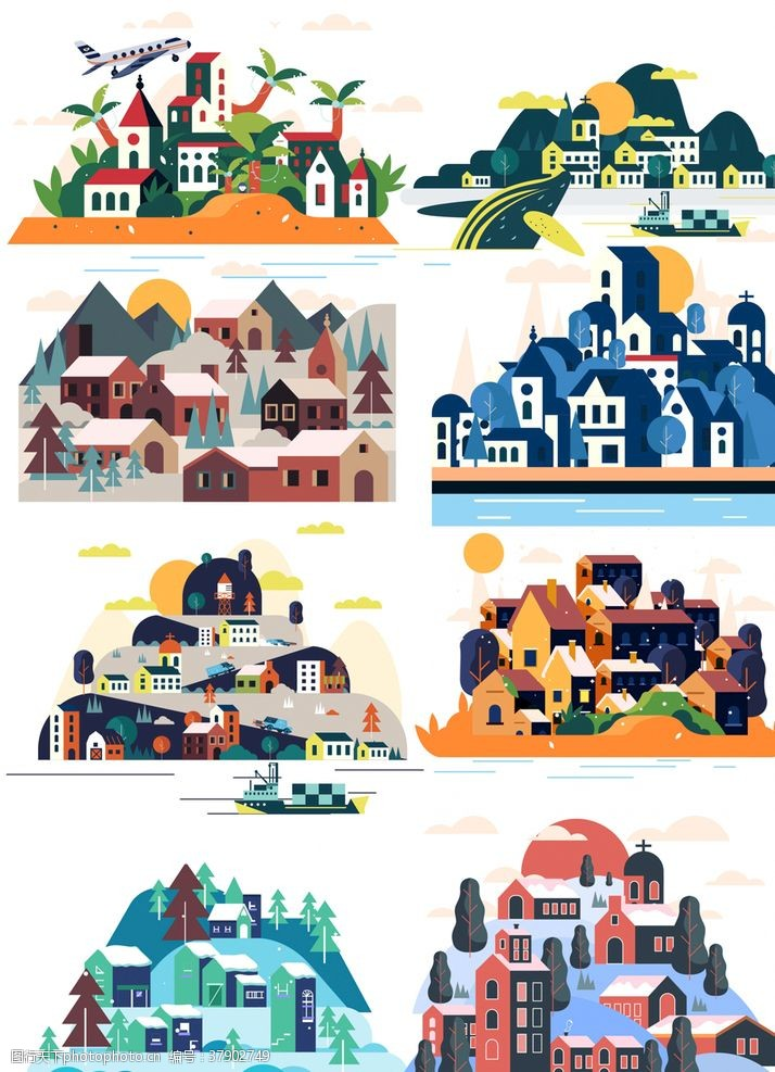 立体城镇建筑风景