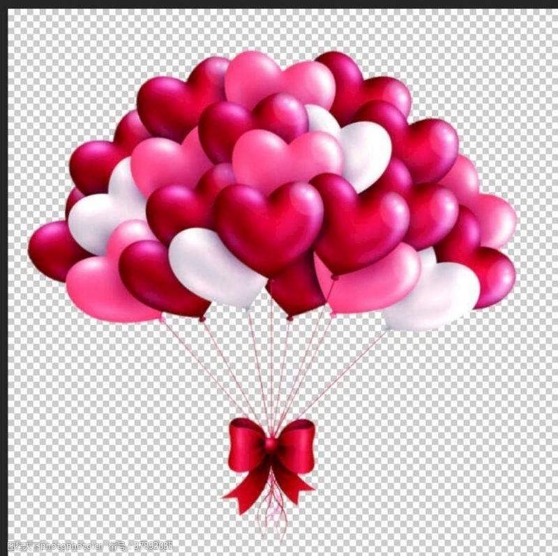 时尚情人节爱心气球