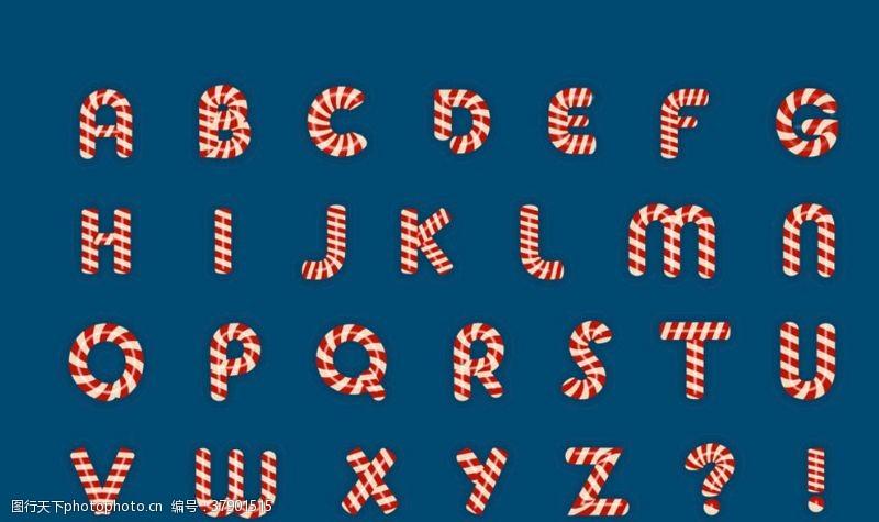 创意字母矢量英文字母素材