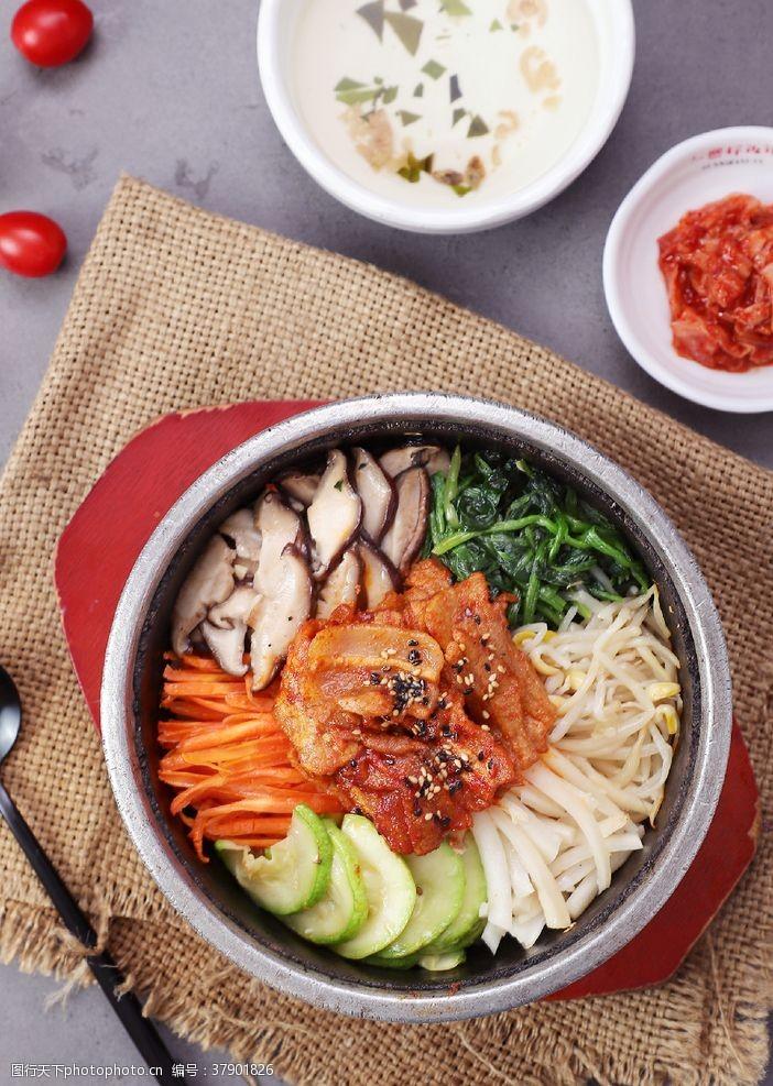 韩餐五花肉拌饭