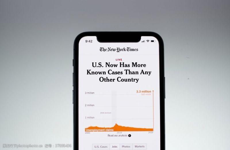 苹果美国疫情情报手机页面
