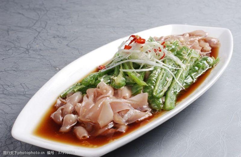 传统美食烧椒鸭肠