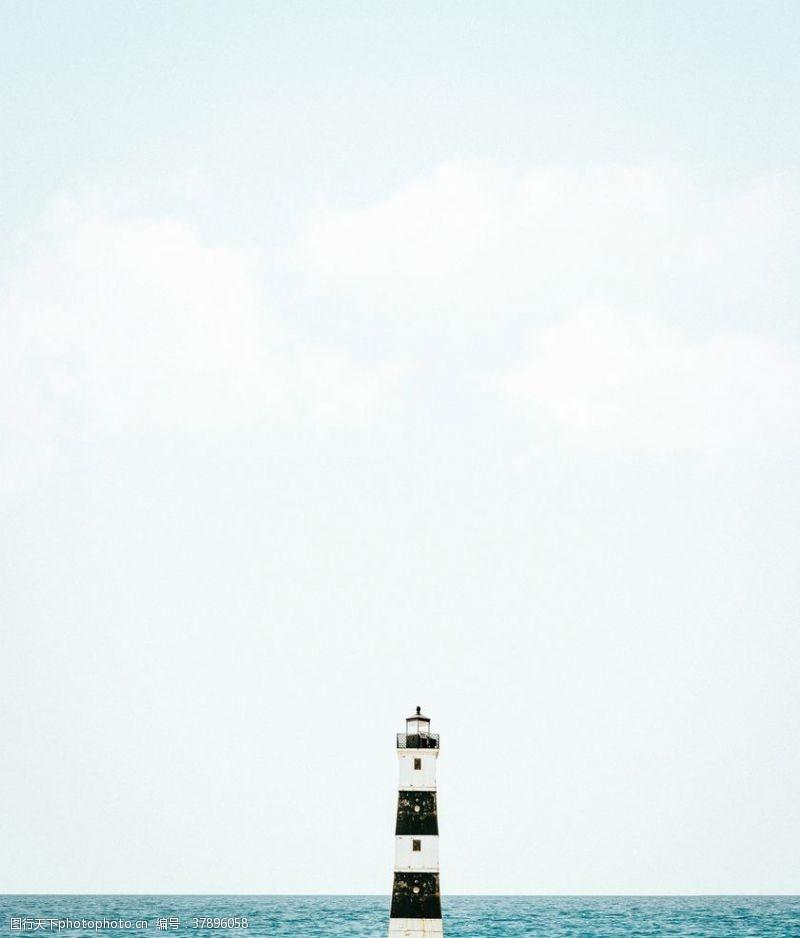 大海愿景图片灯塔