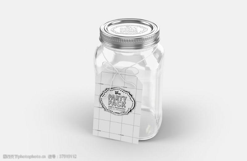展示玻璃瓶子包装效果图